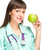 медицинской · врач · яблоко · женщину · молодые - Сток-фото © stepstock
