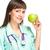 médico · médico · maçã · mulher · jovem - foto stock © stepstock