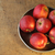 apples on metal plate top view stock photo © stickasa