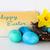 joyeuses · pâques · décoration · bleu · oeufs · fleur · jaune · fleur - photo stock © stickasa