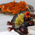 Cheese plate with fall fruits and pumpkin stock photo © stickasa