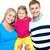 mutlu · gülen · aile · birlikte · poz - stok fotoğraf © stockyimages