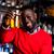 portret · glimlachend · vrienden · bier · vergadering · discotheek - stockfoto © stockyimages