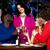 gelukkig · vrouwelijke · vrienden · bril · limonade · eettafel - stockfoto © stockyimages