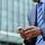 empresário · sms · celular · isolado · branco - foto stock © stockyimages