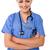 улыбаясь · элегантный · женщину · врач · Постоянный · ног - Сток-фото © stockyimages