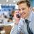 knap · zakenman · praten · mobiele · telefoon · restaurant · business - stockfoto © stockyimages