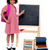pretty schoolgirl pointing at chalkboard stock photo © stockyimages