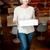 kadın · pizza · beyaz · gıda - stok fotoğraf © stockyimages
