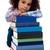 szomorú · diák · lány · ül · köteg · könyvek - stock fotó © stockyimages