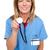 medische · professionele · klaar · vrouwelijke · chirurg · stethoscoop - stockfoto © stockyimages