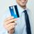 wesoły · człowiek · karty · kredytowej · shot - zdjęcia stock © stockyimages
