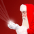 santa holding magical lights in hands stock photo © stockyimages