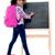 glimlachend · schoolmeisje · poseren · zak · klas · meisje - stockfoto © stockyimages