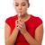 gündelik · sigara · kız · yüz · dudaklar - stok fotoğraf © stockyimages