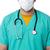 médico · do · sexo · masculino · enfermeira · óculos · de · proteção · cara · máscara - foto stock © stockyimages