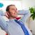 jovem · empresário · relaxante · dia · bonito - foto stock © stockyimages