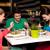 tres · jóvenes · nina · amigos · sesión · al · aire · libre - foto stock © stockyimages
