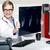 doświadczony · kobiet · lekarz · xray · sprawozdanie - zdjęcia stock © stockyimages