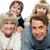 uitgebreide · familie · poseren · warm · kleding · vrouw · familie - stockfoto © stockyimages