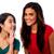 zwei · Frauen · freundlich · Chat · zusammen · home · stehen - stock foto © stockyimages