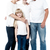 happy couple with cheerful children stock photo © stockyimages
