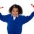 wesoły · dziecko · ręce · podniecenie · uśmiechnięty · szkoły - zdjęcia stock © stockyimages