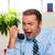 肖像 · 怒っ · ビジネスマン · 電話 · お金 - ストックフォト © stockyimages