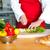 szakács · tapsolás · zöldségek · fotó · fából · készült · vágódeszka - stock fotó © stockyimages