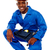 africano · trabalhador · posando · sorrir · isolado - foto stock © stockyimages