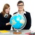 учитель · студент · мира · география · классе · школу - Сток-фото © stockyimages