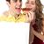 menina · oferta · pizza · bonito - foto stock © stockyimages