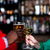 paar · genieten · glas · champagne · bar · drinken - stockfoto © stockyimages