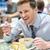 üzletember · vacsora · portré · vagyonos · étterem · kezek - stock fotó © stockyimages