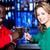 vrolijk · vrienden · bier · discotheek · vergadering - stockfoto © stockyimages