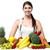modell · gyümölcsök · zöldségek · gyönyörű · szépség · zöld - stock fotó © stockyimages