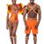 hagyományos · öltözék · szamba · mosolyog · férfi · táncos · pózol - stock fotó © stockyimages