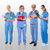 senior team of doctors posing with a smile stock photo © stockyimages