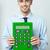 entreprise · homme · grand · vert · simulateur - photo stock © stockyimages