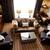 şık · oturma · odası · şömine · kanepe · çift · modern - stok fotoğraf © stockyimages