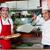 alegre · camarero · dos · baguettes · panadería - foto stock © stockyimages
