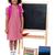 glimlachend · schoolmeisje · permanente · Blackboard · mooie · meisje - stockfoto © stockyimages