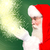 christmas theme santa claus with magic lights stock photo © stockyimages