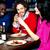 arkadaşlar · akşam · yemeği · restoran · içecekler - stok fotoğraf © stockyimages
