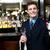 mannelijke · De · ober · wijnglas · wijnfles · restaurant - stockfoto © stockyimages