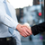 close up of business people handshaking stock photo © stockyimages