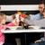dochter · vader · eten · restaurant · meisje - stockfoto © stockyimages