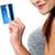 portret · kobieta · strony · zakupy · karty · kredytowej · odizolowany - zdjęcia stock © stockyimages