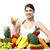 красивая · девушка · красочный · свежие · овощи · рук · Sweet - Сток-фото © stockyimages