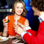 szczęśliwy · posiedzenia · nightclub · uśmiechnięty · inny - zdjęcia stock © stockyimages